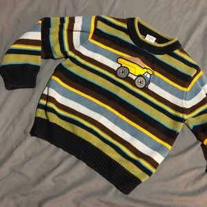 Gymboree dump truck sweater